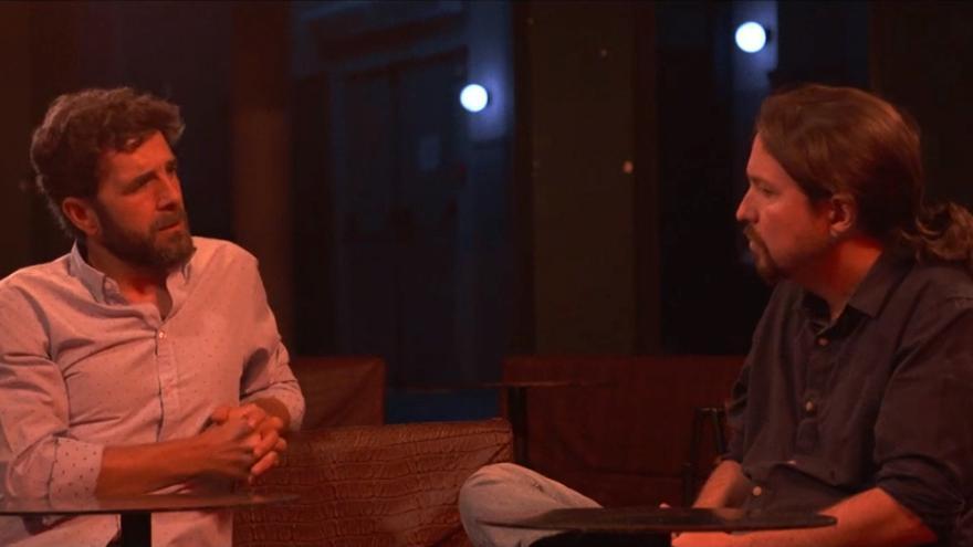 Gonzo y Pablo Iglesias en 'Salvados'