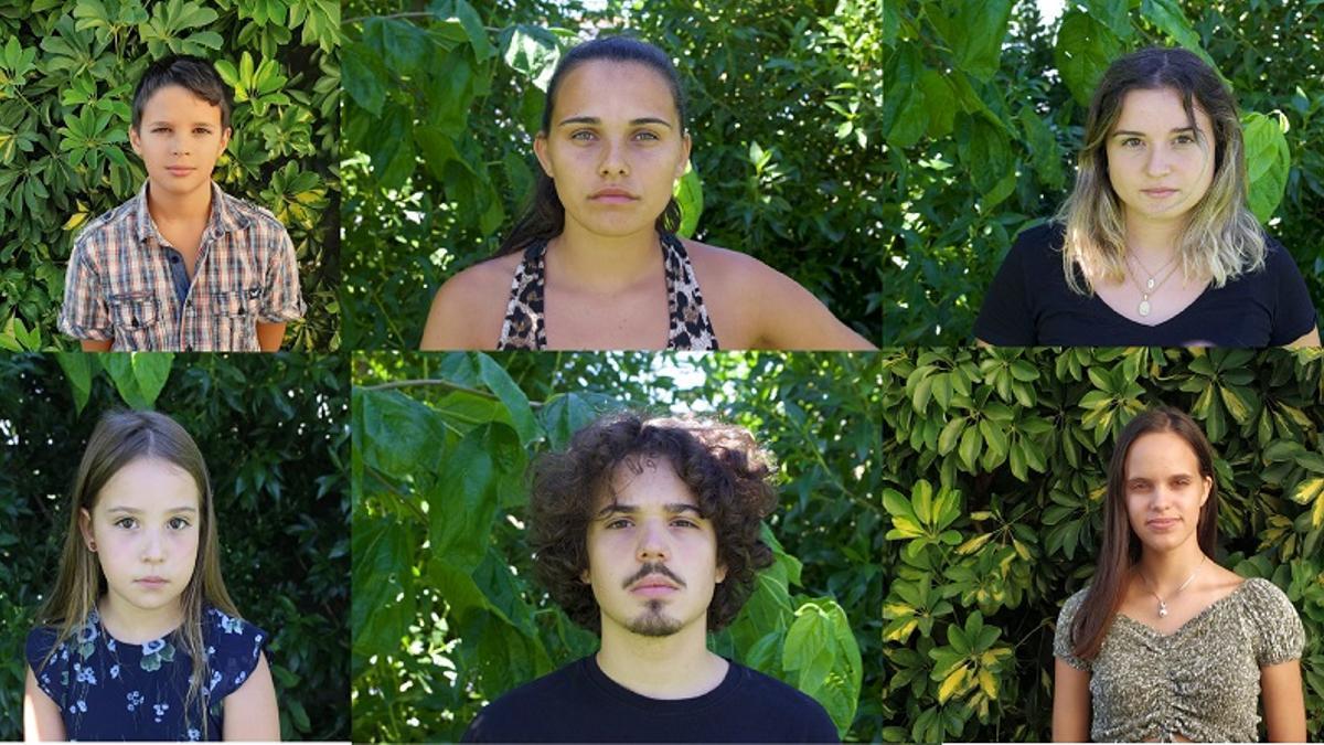 Los seis jóvenes que han presentado la primera demanda contra un grupo de países por inacción ante el cambio climático.