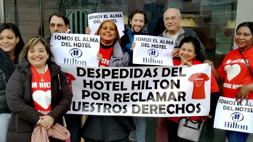 Las camareras de piso del hotel Hilton