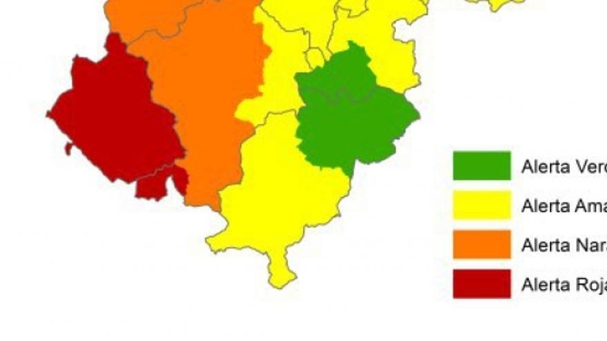 En las zonas con alerta roja son posibles incendios de superficie de alta intensidad con antorcheos
