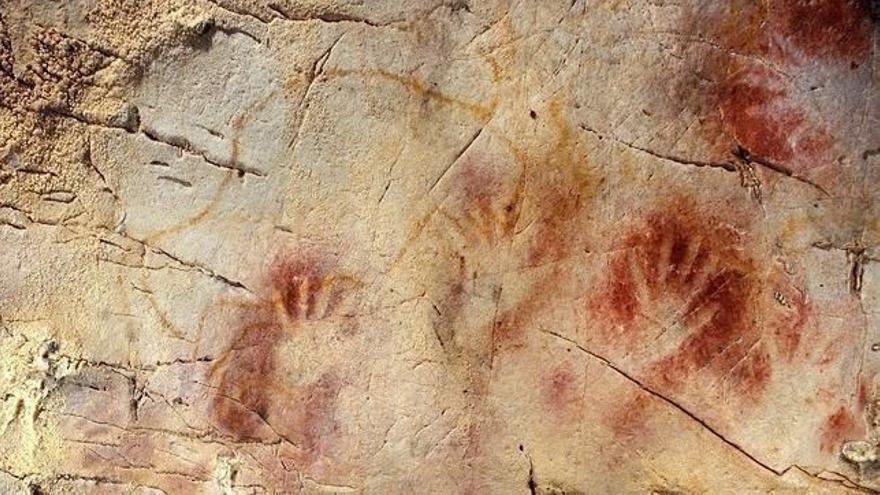 Una de las pinturas que se pueden ver en las cuevas.