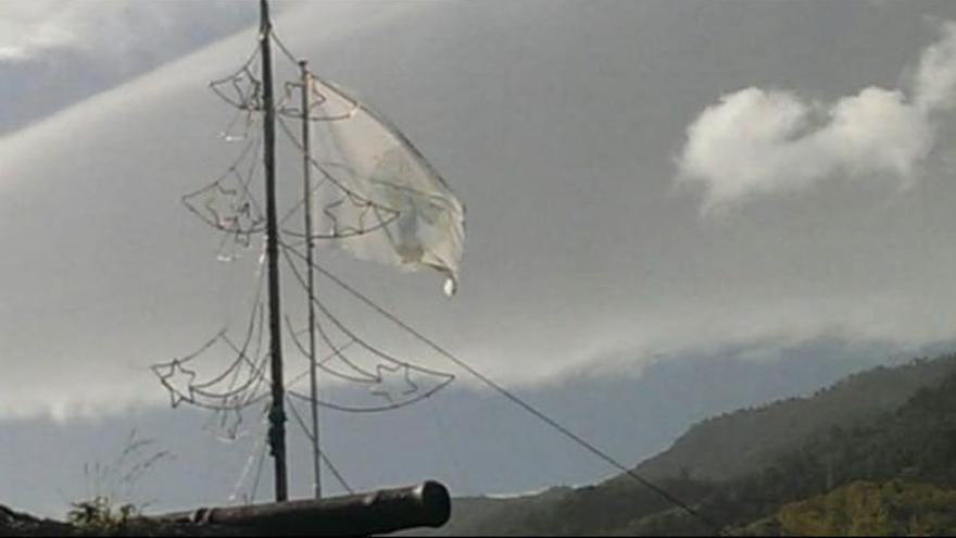 Imagen de archivo de la izada de la Bandera de la Virgen.