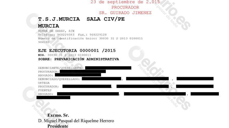 Ejecutoria de 23 de septiembre de 2015