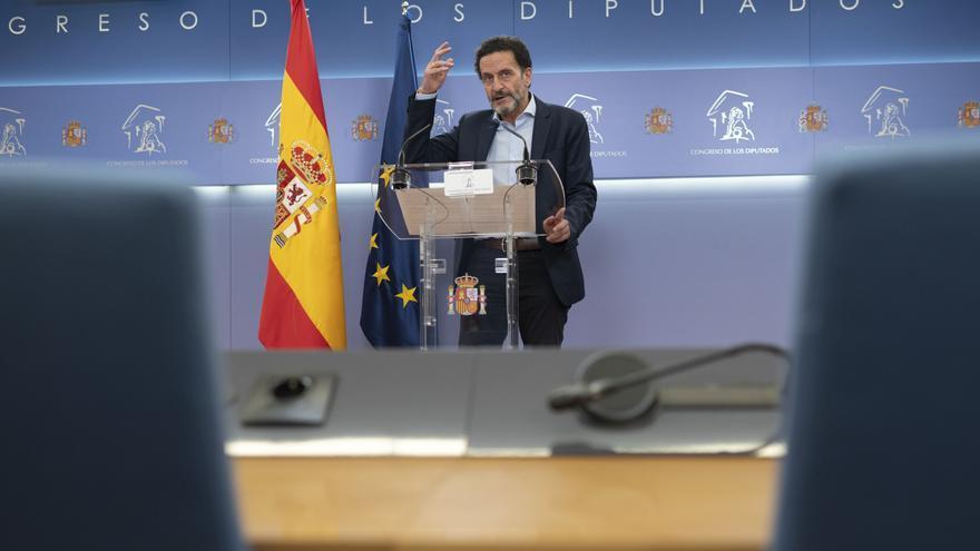 El vicesecretario general de Ciudadanos y portavoz adjunto en el Congreso de los Diputados, Edmundo Bal, en una rueda de prensa en la Cámara Baja.