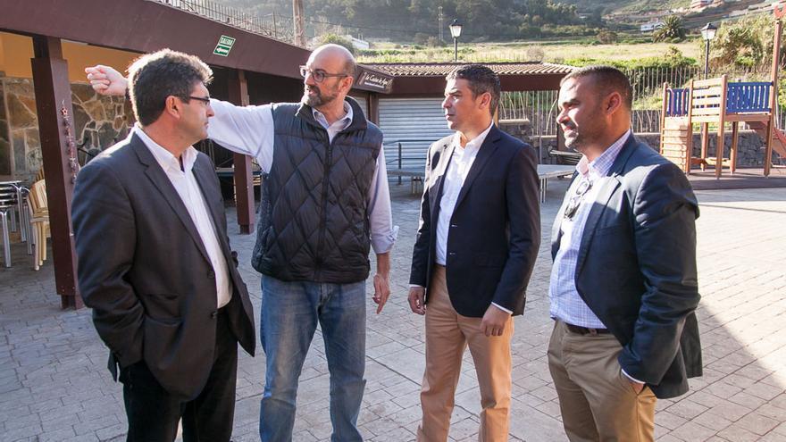 Momento de la visita del consejero Narvay Quintero a Tegueste realizada este viernes
