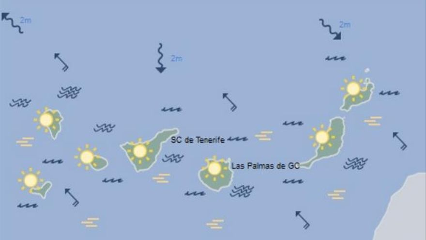 Tiempo en Canarias para el sábado 31 de diciembre
