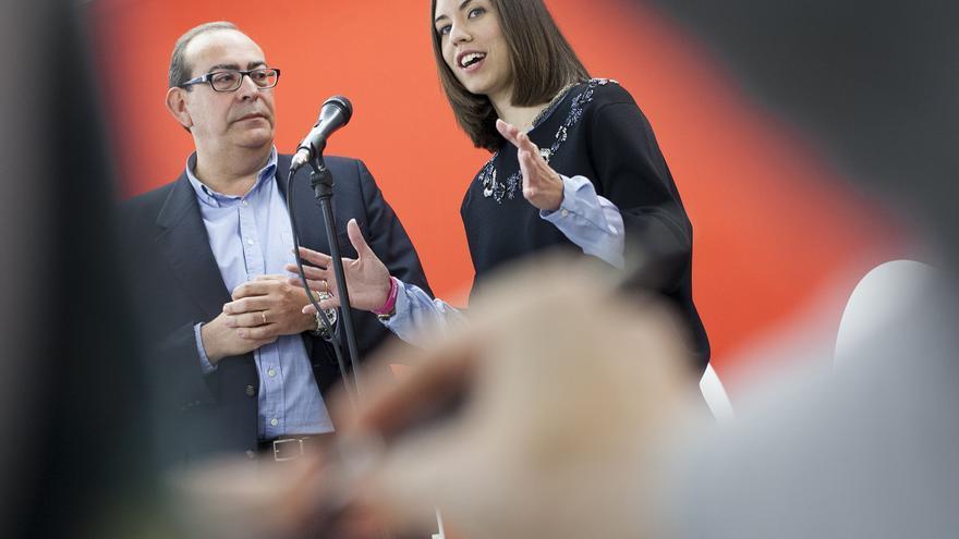 Miquel Àngel Picornell y Diana Morant en Gandia.