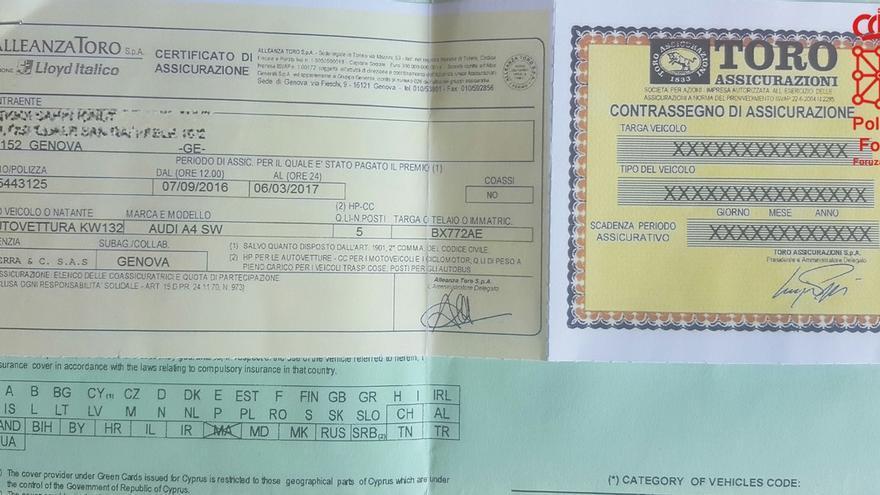 La Policía Foral imputa a un conductor por presentar una póliza de seguro falsa