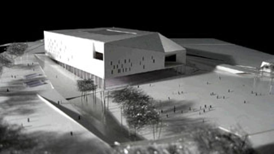 Proyecto original del nuevo Palacio de Deportes de Gran Canaria.