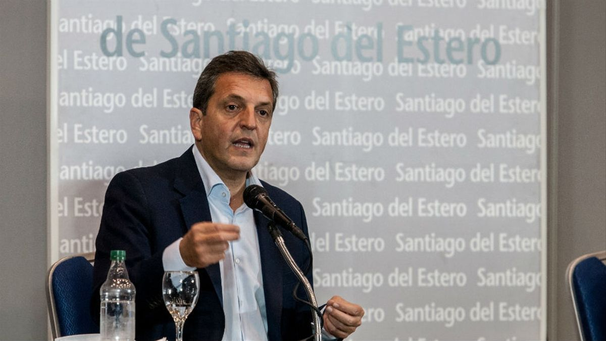 El presidente de la Cámara de Diputados, Sergio Massa, visitó Santiago del Estero en diciembre pasado.