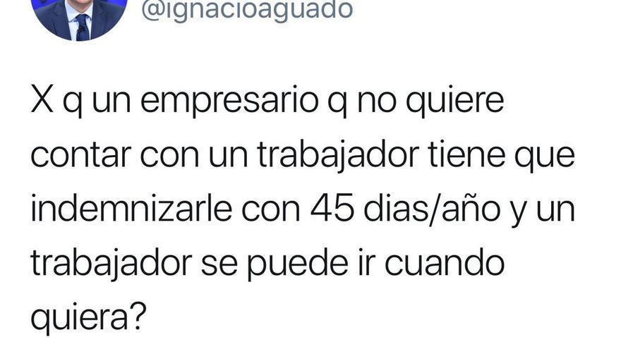 Tuit Ignacio Aguado de 2011