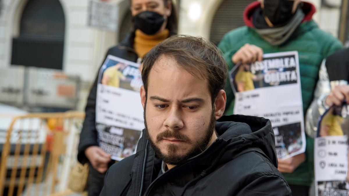 El rapero de Lleida Pablo Hasel. EFE/Ramón Gabriel/Archivo
