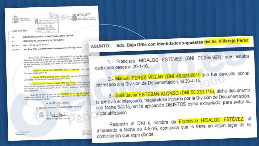 Las identidades falsas del comisario Villarejo