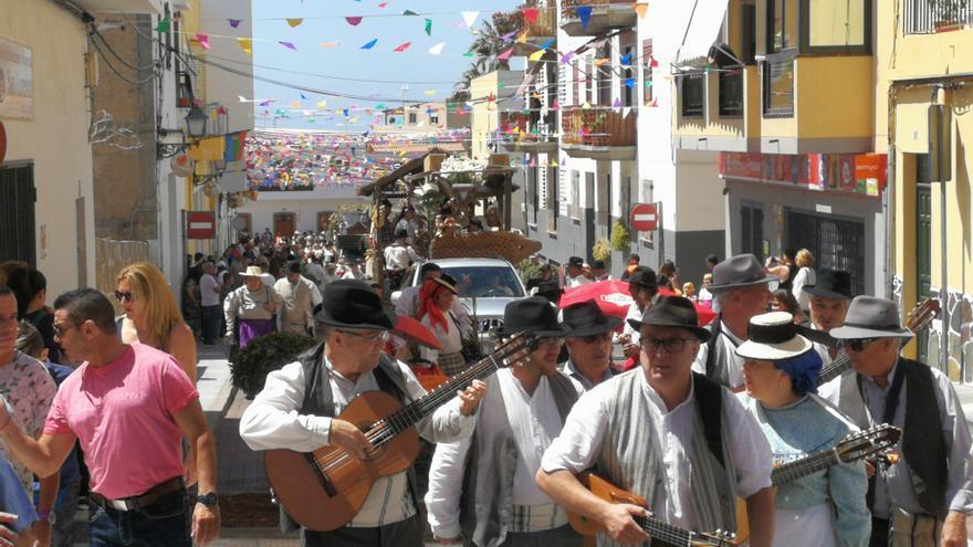 Asistentes a la romería de este domingo en Valle de San Lorenzo