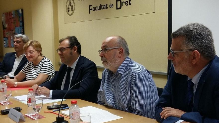 Imagen de la intervención de Alcaraz durante las jornadas