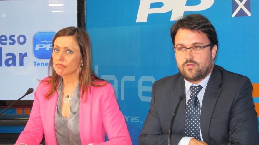 Cristina Tavío y Asier Antona, los candidatos a la presidencia del PP en Canarias