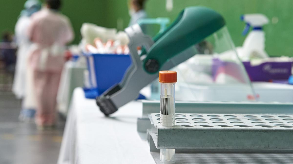 Muestra tras la realización de una prueba PCR