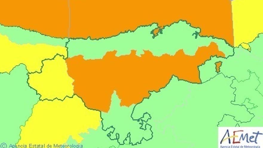 Cantabria permanecerá este martes en aviso naranja por nevadas y oleaje