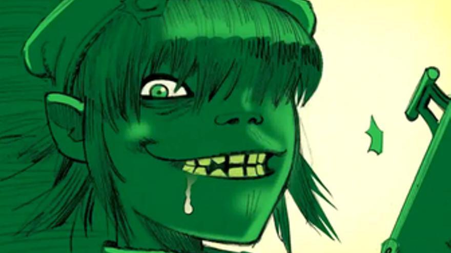 Captura de un vídeo de Gorillaz
