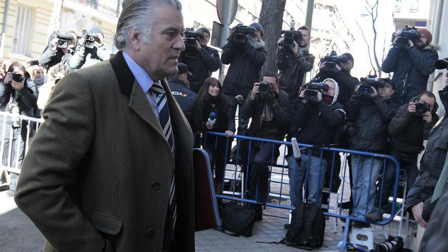 Luis Bárcenas, al entrar en la Fiscalía Anticorrupción para declarar.