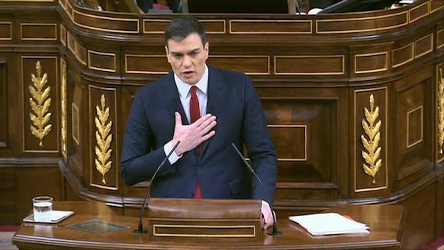Pedro Sánchez, cuando en 2016 propuso una convocatoria pública para elegir el CGPJ