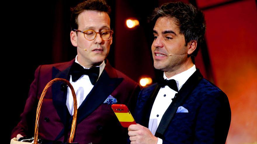 Joaquín Reyes y Ernesto Sevilla en la XXXII Gala de los Premios Goya