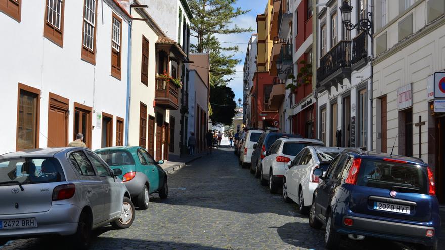 Un tramo de la calle Pérez de Brito.