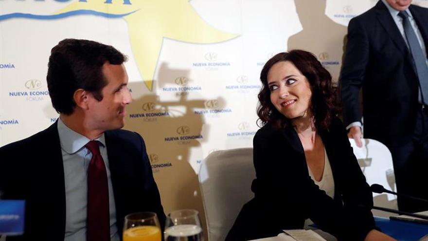 Casado reclama a Cs que aclare con quién pactará tras las elecciones del 26M