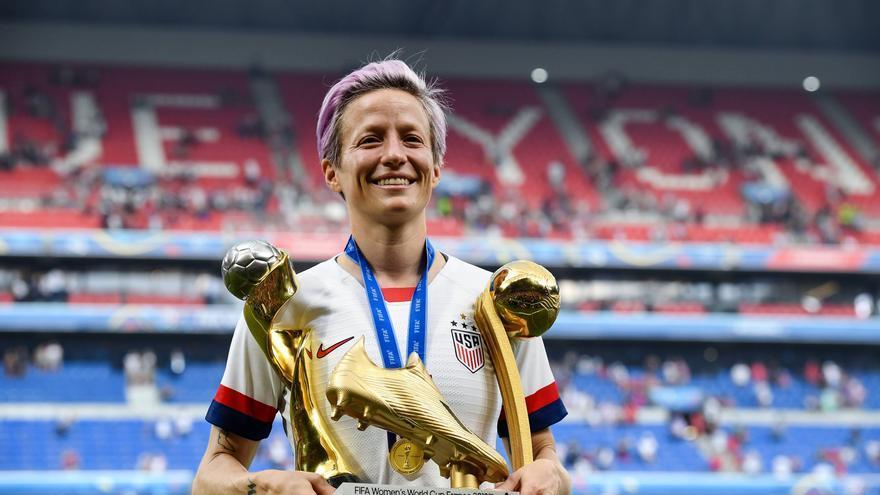 Megan Rapinoe, capitana de la selección estadounidense de fútbol.