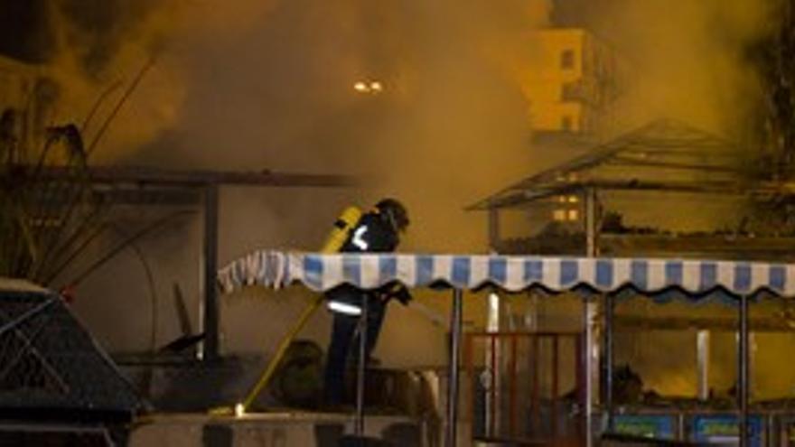 Incendio en un restaurante de Playa del Inglés