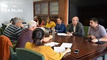Comisión del Fdcan con responsables del Ayuntamiento de Tazacorte.