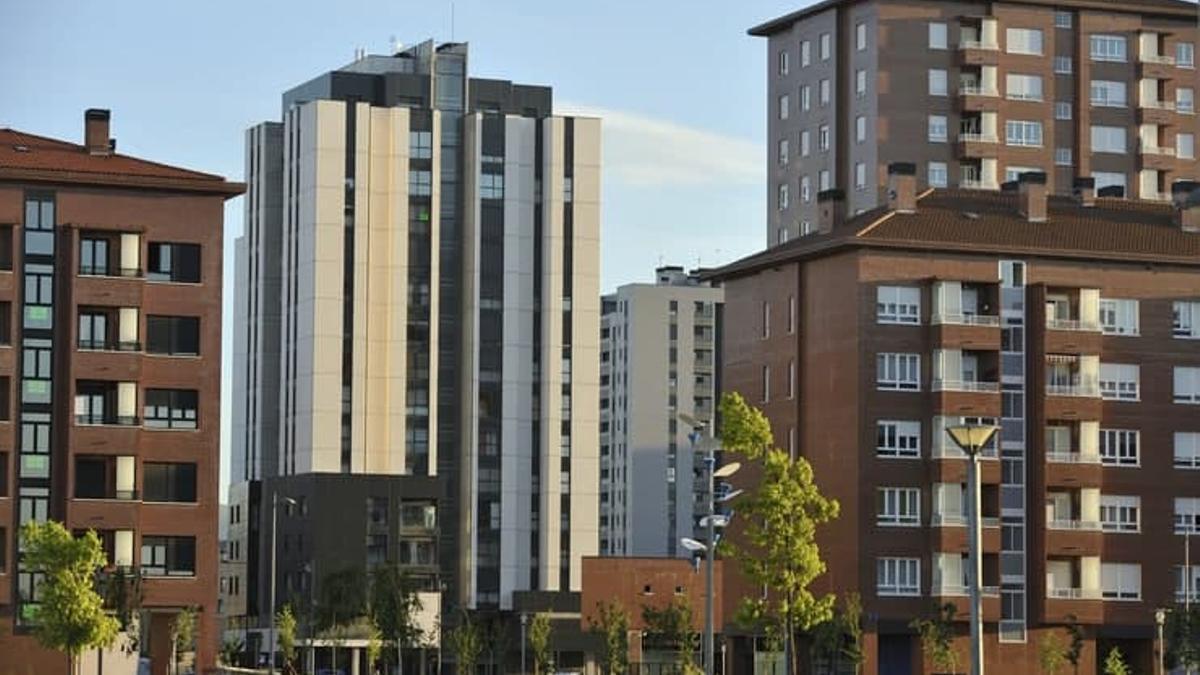Bloques de viviendas en Vitoria