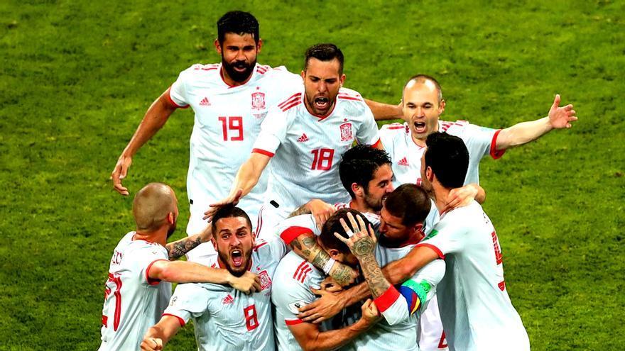 España en su debut en el Mundial de Rusia contra Portugal
