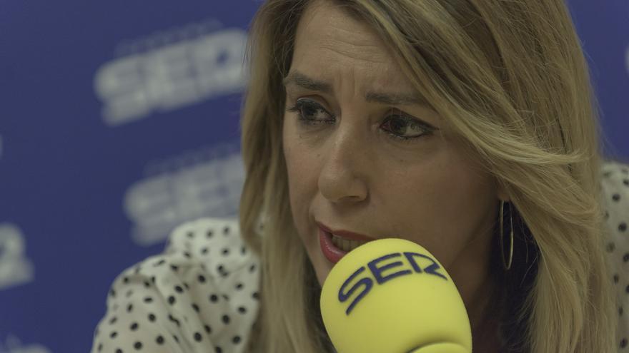 Susana Díaz en una entrevista en la Cadena Ser /foto: Junta de Andalucía