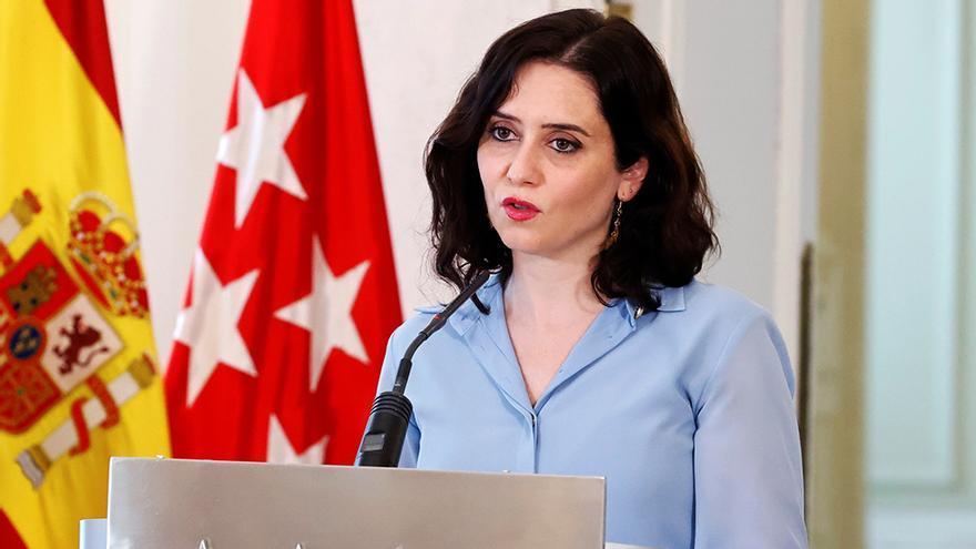 Isabel Díaz Ayuso, en un acto de marzo