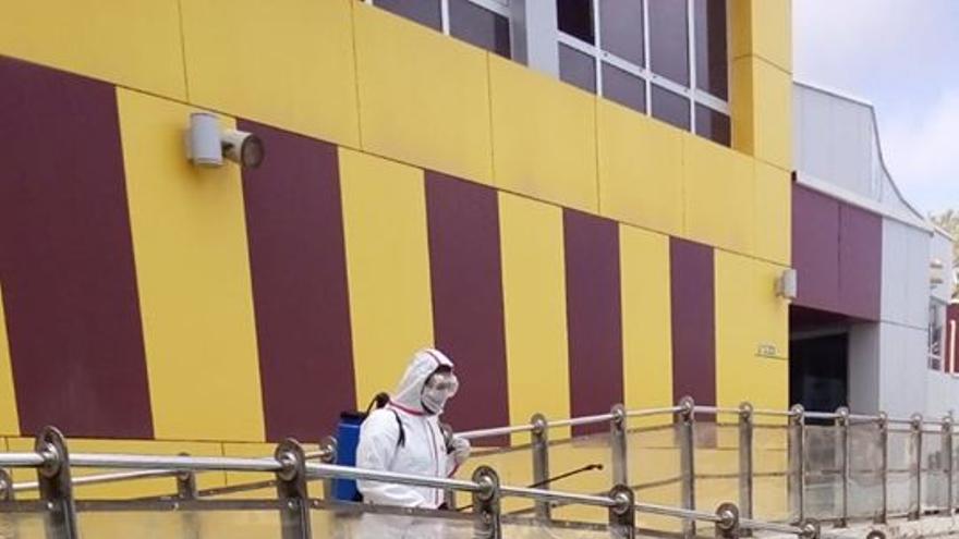 Desinfección de las instalaciones La Laguna