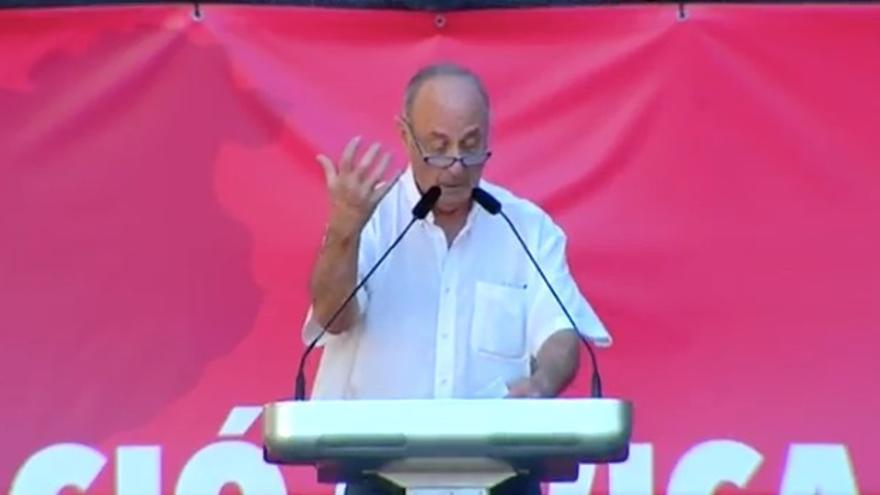 Paco Frutos, en la manifestación de SCC.