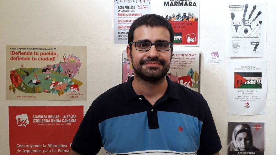 Felipe Ramos es portavoz de IUC en el Ayuntamiento de Los Llanos de Aridane.