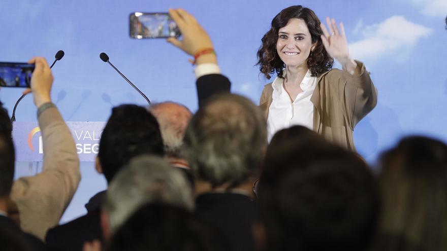 Isabel Díaz Ayuso en un mitin en Boadilla del Monte