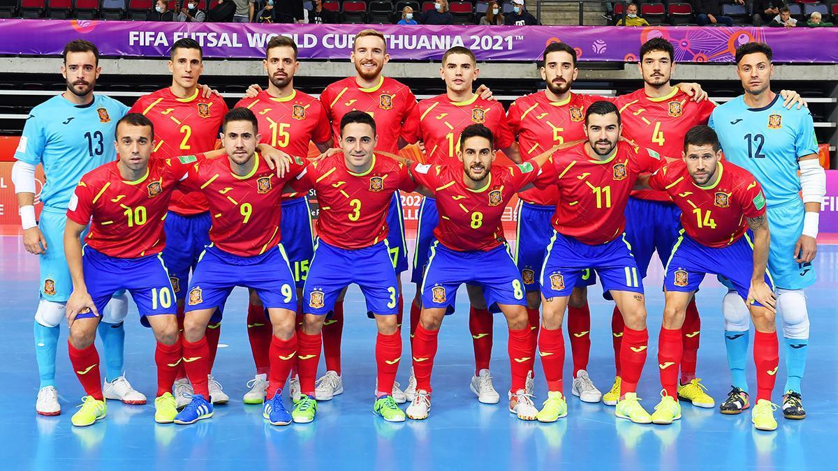 Bebé, con el dorsal 9, con la selección española de fútbol sala