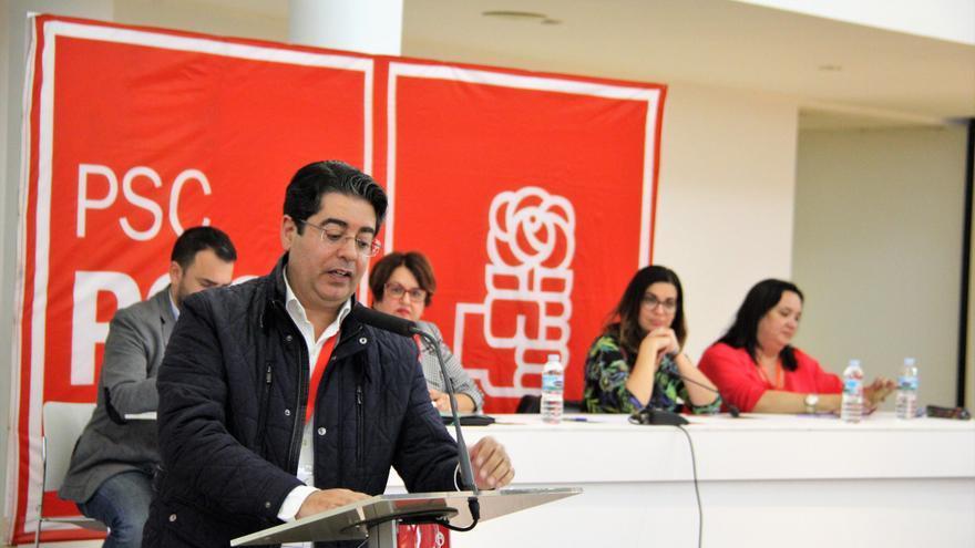 Pedro Martín, en la reunión del Comité Insular de este miércoles, en Adeje