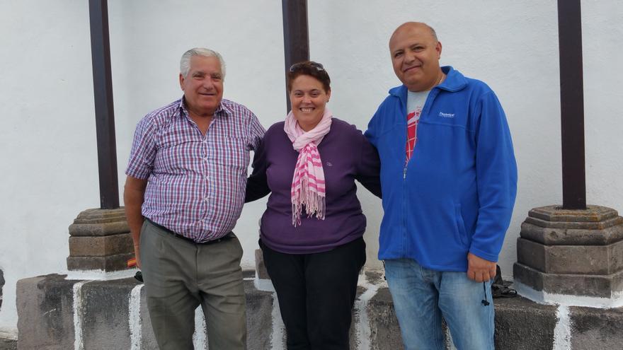 Javier Brito (i), Ángela Marlen Expósito y  Justo Castro. Foto: LUZ RODRÍGUEZ.