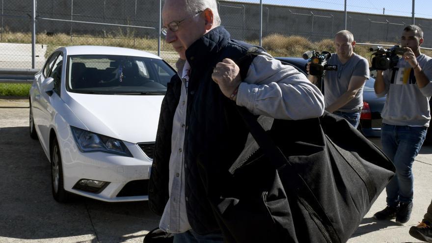 El exvicepresidente del Gobierno Rodrigo Rato a su llegada a la prisión madrileña de Soto del Real