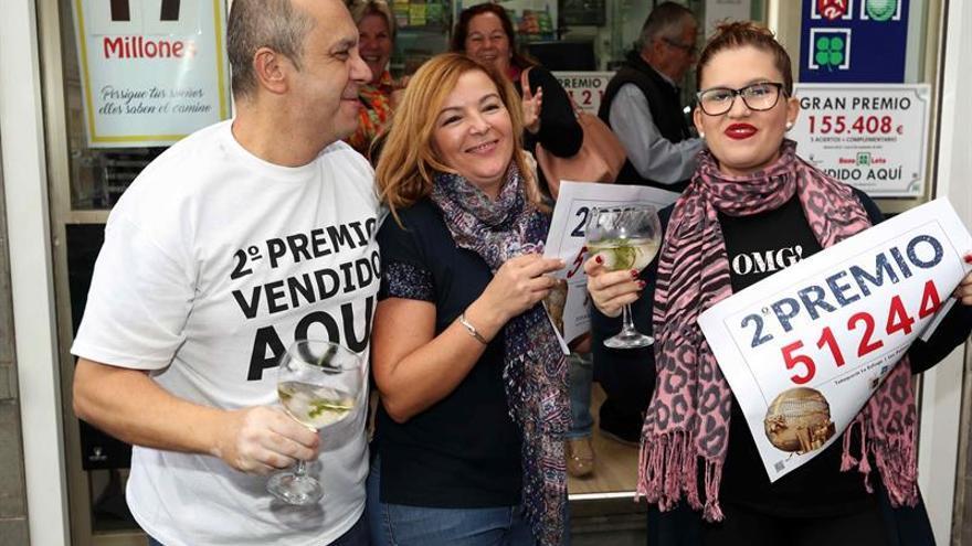El segundo premio del sorteo de Navidad deja 4,75 millones en Canarias