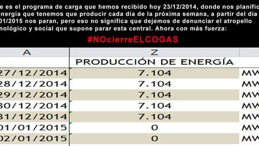 Programa de producción de energía para Elcogás, Puertollano (Ciudad Real)