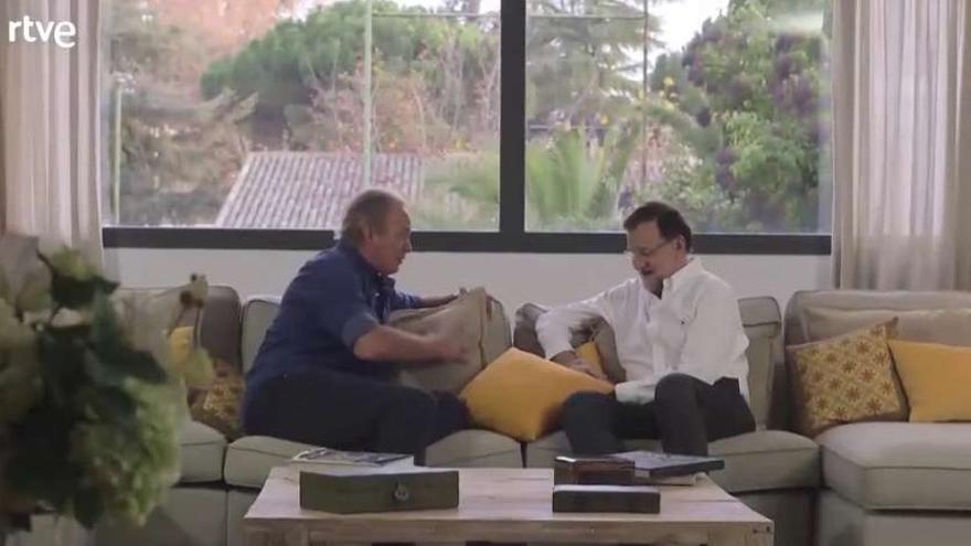 Rajoy y Bertín. / RTVE