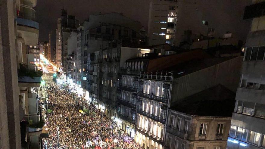 Manifestación del 8M en Vigo