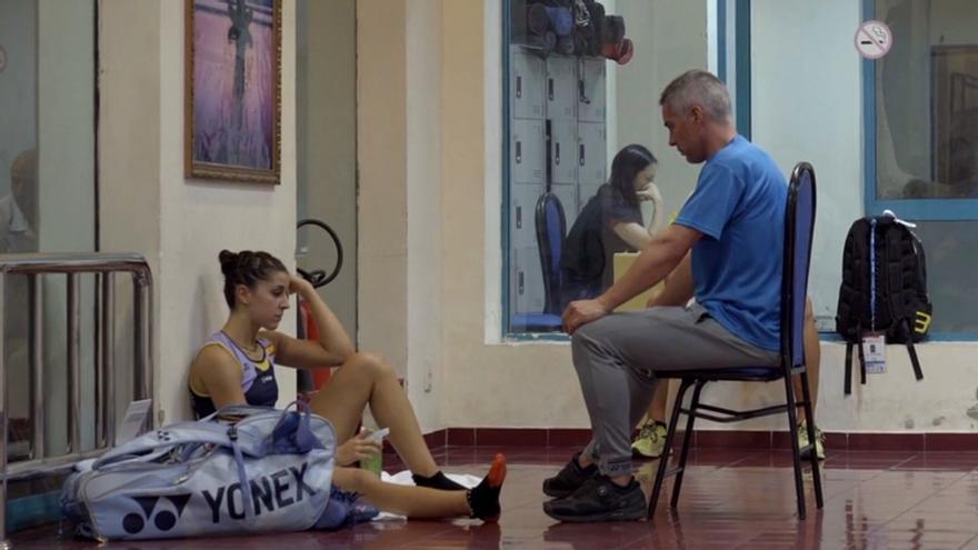 Escena de 'Carolina Marín: puedo porque pienso que puedo'
