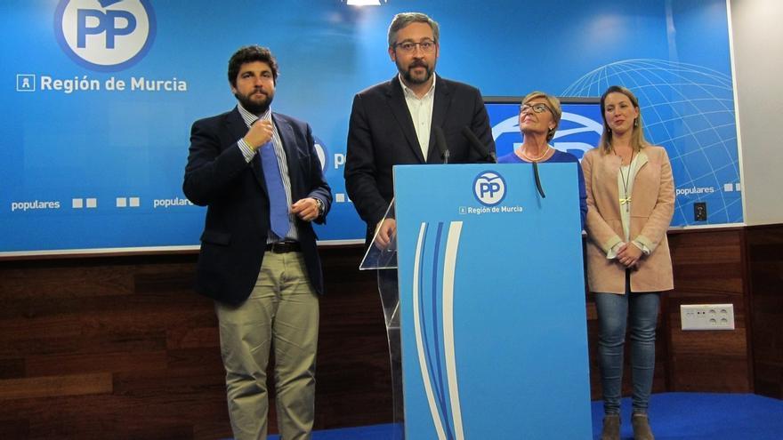 """PP murciano tacha de """"especulación razonada"""" la exposición del juez Velasco e insiste: apoyo """"unánime"""" al presidente"""