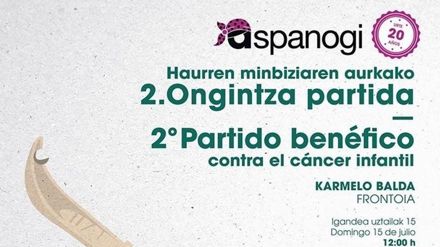 Aspanogi organiza este domingo en San Sebastián el II partido benéfico de pelota contra el cáncer infantil